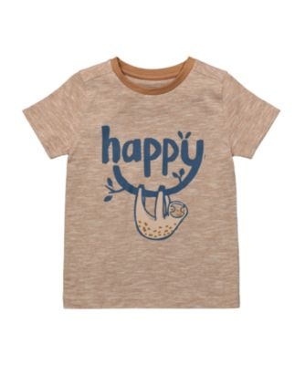 Mothercare Eco Safari Tan Happy Sloth Short Sleeve T-Shirt