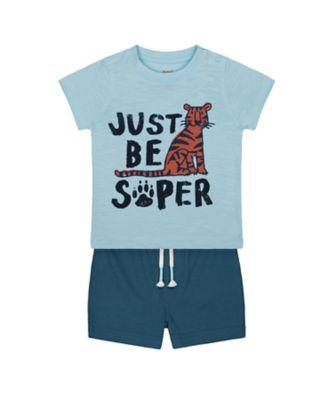 Mothercare Eco Safaro Super Tiger T-Shirt And Shorts Set