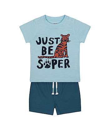 Mothercare Super Tiger T-Shirt And Shorts Set