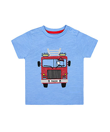 Mothercare Blue Fire Engine T-Shirt