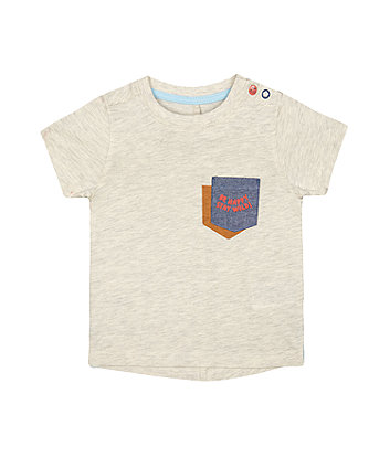 Mothercare Grey Be Happy Stay Wild T-Shirt
