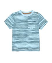 Mothercare Blue Wave-Stripe T-Shirt