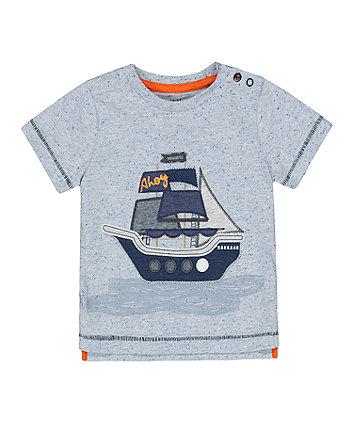 Mothercare Grey Ship T-Shirt