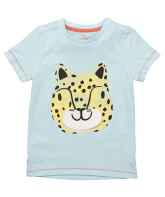 Mothercare Eco Safari Blue Lift-Flap Tiger Short Sleeve T-Shirt