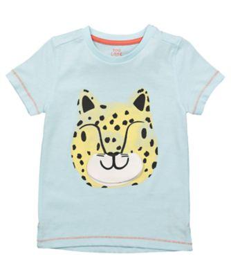 Mothercare Eco Safari Blue Lift-Flap Tiger Short Sleeve T-Shirt