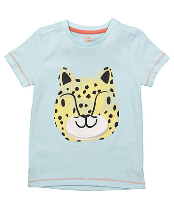Mothercare Blue Lift-Flap Tiger T-Shirt