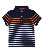 Mothercare Navy Stripe Polo Shirt