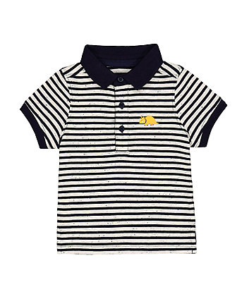 Mothercare Striped Dino Polo Shirt