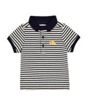 Mothercare Striped Dino Polo Shirt