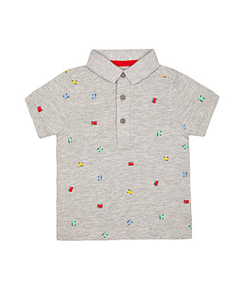Mothercare Grey Fire Engine Polo Shirt