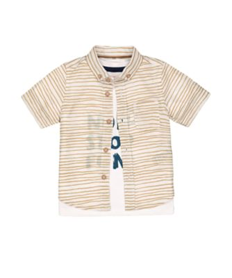 Mothercare Eco Safari Shirt And Non-Stop Fun Short Sleeve T-Shirt Set