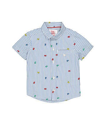 Mothercare Striped Fire Engine Shirt