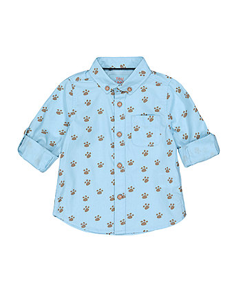 Mothercare Blue Paw Shirt