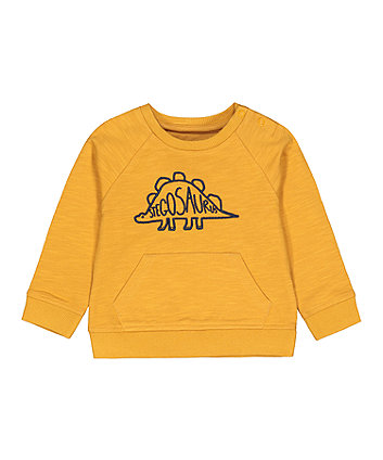 Mothercare Yellow Dinosaur Sweat Top
