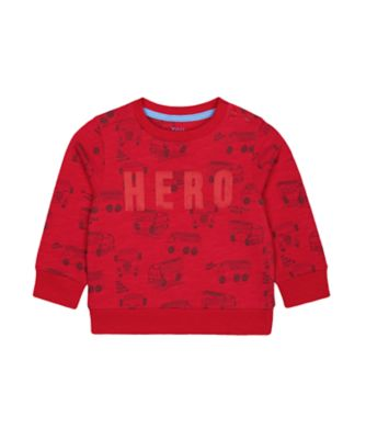 Mothercare Red Alert Red Fire Engine Hero Sweat Top