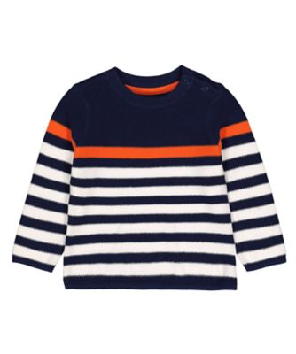 Mothercare Ahoy Matey Navy Stripe Sweater
