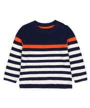 Mothercare Navy Striped Knitted Jumper