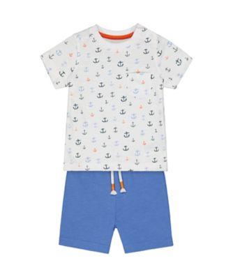 Mothercare Anchor T-Shirt And Shorts Set