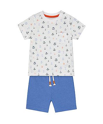 Mothercare Fashion Anchor T-Shirt And Shorts Set