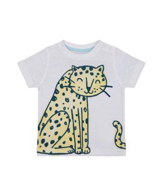 Mothercare Eco Safari White Leopard Short Sleeve T-Shirt