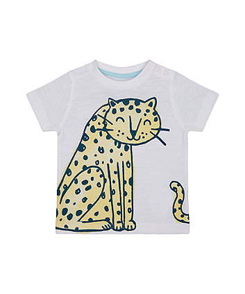 Mothercare White Leopard T-Shirt