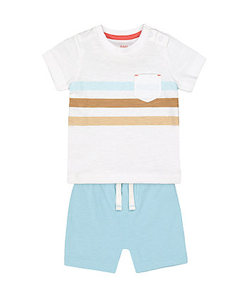 Mothercare Fashion Multi-Stripe T-Shirt And Shorts Set