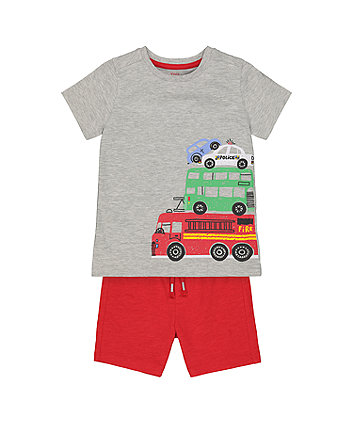 Mothercare Vehicle Shorts And T-Shirt Set