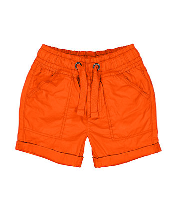 Mothercare Orange Poplin Shorts