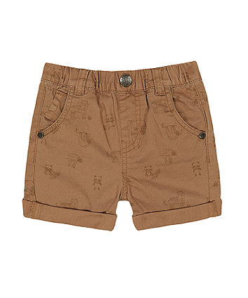 Mothercare Fashion Tan Sloth Animal Shorts