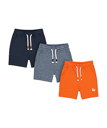 Mothercare Fashion Jersey Shorts - 3 Pack
