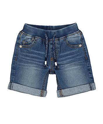 Mothercare Denim Shorts - Mid-Wash