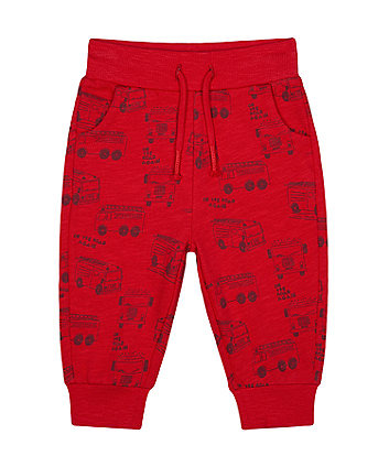 Mothercare Red Fire Engine Joggers