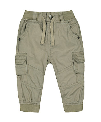 Mothercare Khaki Cargo Trousers