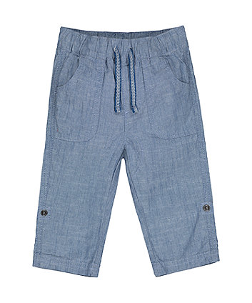 Mothercare Fashion Chambray Roll-Up Trousers