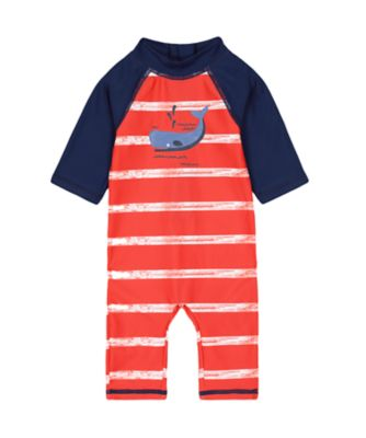 Mothercare Red Striped Whale Sunsafe