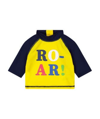 Mothercare Navy And Yellow Roar Sunsafe Rash Vest