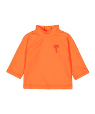 Mothercare Orange Palm Tree Sunsafe Rash Vest