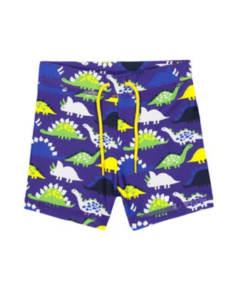 Mothercare Blue Dinosaur Trunkie Swim Shorts