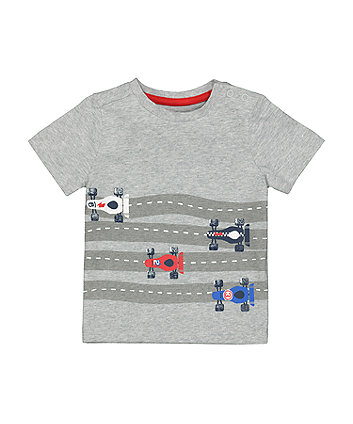 Mothercare Grey Racing Car T-Shirt