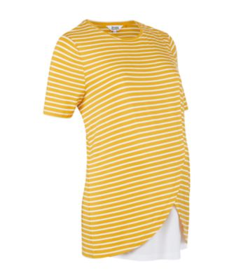 Mothercare Mustard Wrap Hem Nursing Top