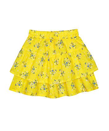 Mothercare Yellow Ditsy Floral Ra Ra Skirt