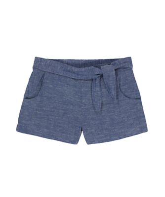 Mothercare Navy Pop Chambray Knot-Waist Shorts