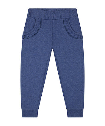 Mothercare Fashion Blue Frill Joggers