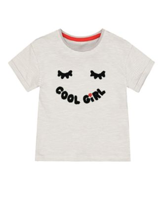 Mothercare Street Mania Stripe Cool Girl Short Sleeve T-Shirt