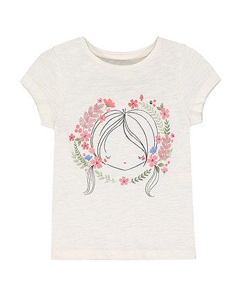 Mothercare Fashion Cream Girl T-Shirt
