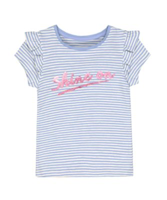 Mothercare Go West Blue Stripe Shine ON Short Sleeve T-Shirt