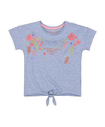 Mothercare Super Power Tie-Front T-Shirt
