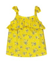 Mothercare Yellow Ditsy Floral Frill Blouse