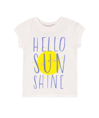 Mothercare Navy Pop White Hello Sunshine Short Sleeve T-Shirt
