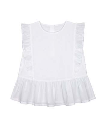 Mothercare Fashion White Frill Blouse